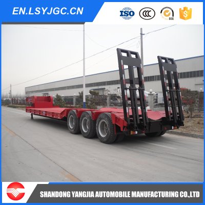 3 Axles 50t-80t Lowbed Semi Trailer For Sale