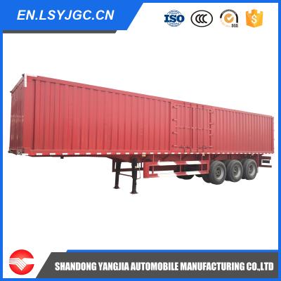 Van semi trailer for household appliances/textile goods/coal and sand transportation.