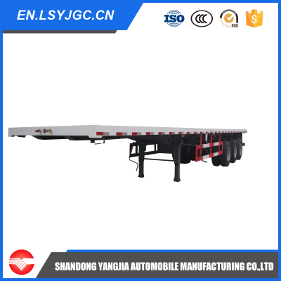 3 Axles Container flatbed transportation semi trailer for sale