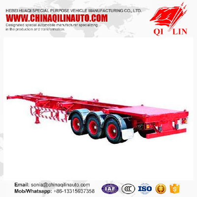 2017 hot sale 3 axles 40ft skeleton semi trailer with gooseneck