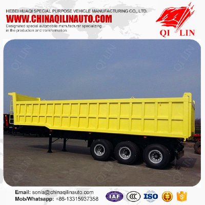 Factory cheap price carbon steel dumper tipper semi trailer