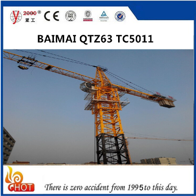50m Jib Lenght Tower Crane 5011