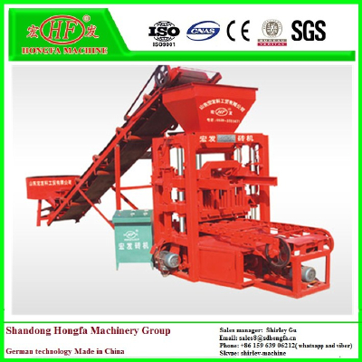 Energy saving QTJ4-26D concrete block making machine