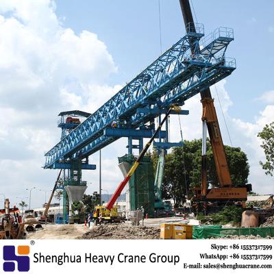 Overhead truss type segment launching gantry crane