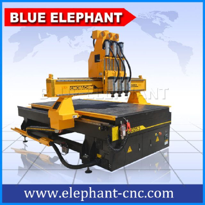 ELE 1325 multi-heads cnc router furniture equipments , wood working furniture machines with 3 spindles