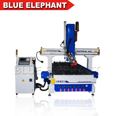 3d cnc wood carving router 4 axis 9kw air cooling spindle 1330