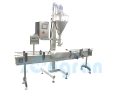 Paint weighing and bottling line