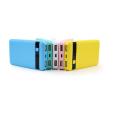 SJ-P80L 8000mAh textured indicator dual USB high quality large portablepower bank diy kit