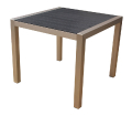 square dining table ideal for indoor and outdoor use