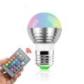 AC85-265V 16 colors E27 E14 RGB LED Lamp Light Bulb with remote