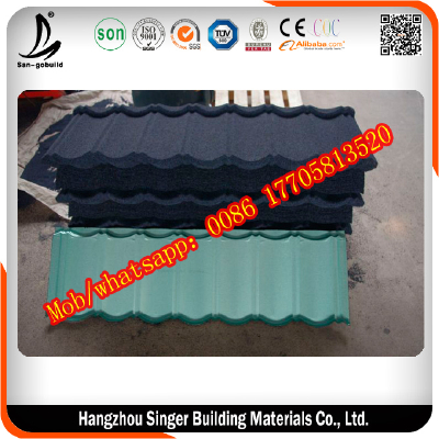 Anti-fade Color Stone Coated Metal Roofing Tile