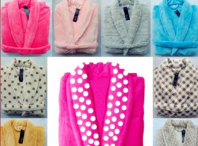 Factory wholesale stock coral fleece bathrobe