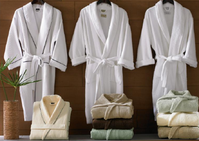 High Quality 100% cotton fluffy bathrobe