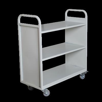 library metal Steel book trolley,metal book cart,School library furniture