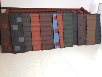 Colored Stone Coated Steel Roofing Tile