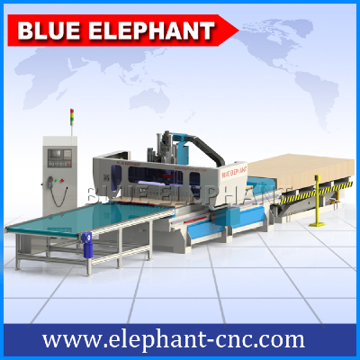 Auto feeding 5d wooden door production line cnc router , cnc machine forwood furniture , cabinets making