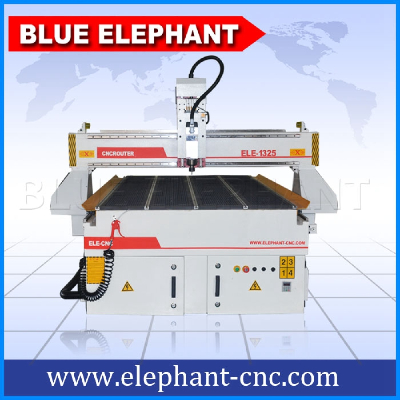 ELE 1325 Air cooling furniture making machine , wood carving cnc router for wood doors