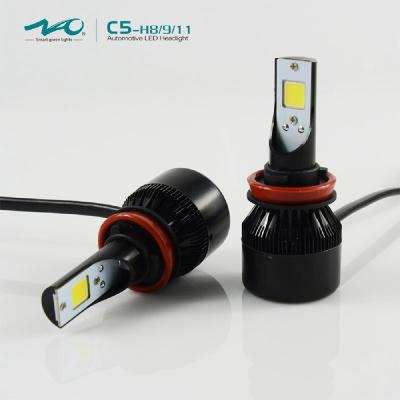 iLight small design cob led headlight C5 H11 25W 2800LM toyota headlight 6000K