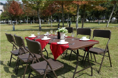 white cheap outdoor Used matal conference wedding hotel Wholesalefolding chairs