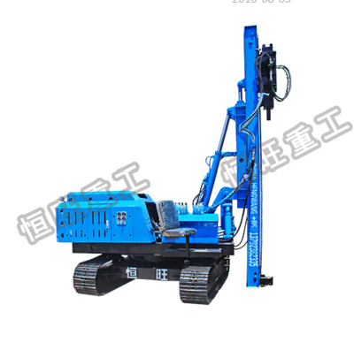 360 degree rotatable 6M hydraulic hammer piling machine