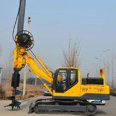 Crawler type rotary drilling rig
