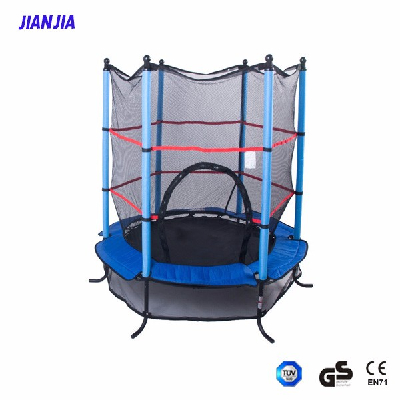 JIANJIA Trampolines Round Bouncer Trampoline with Enclosure, 55 Inch,kids indoor trampoline