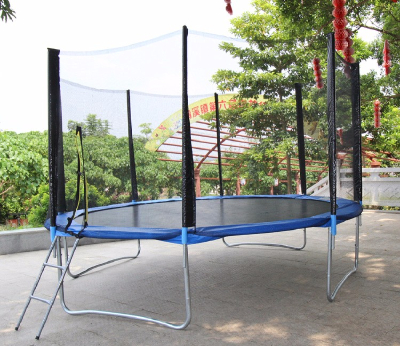 14ft Spring Trampoline for Kids and Adults, Outdoor round Trampoline