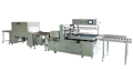 Automatic sealing and cutting heat shrink packaging machine
