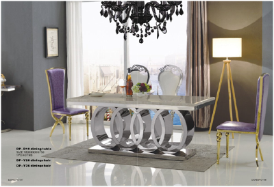 2016 Hotel furniture modern dining table 2 chairs