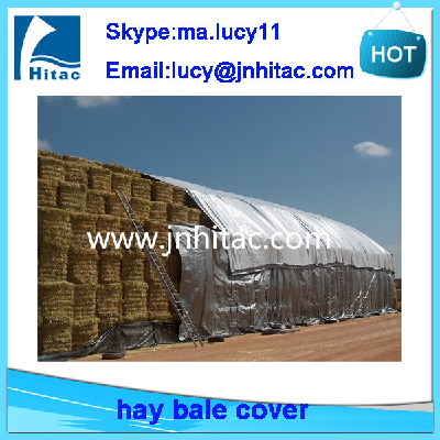 windproof snowproof custom made poly round hay bale tarps tarpaulin cover