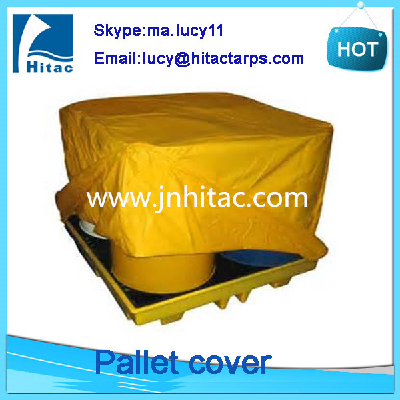 Reusable waterproof fireproof pvc vinyl tarpaulin cargo pallet covers protection manufacturer