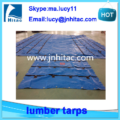 18oz heavy duty pvc vinyl coated lumber and steel cover tarps for flatbeds truck