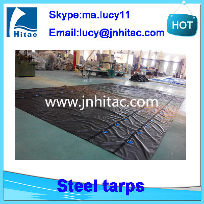 14oz light weight pvc vinyl coated lumber tarps and steel tarps for flatbeds