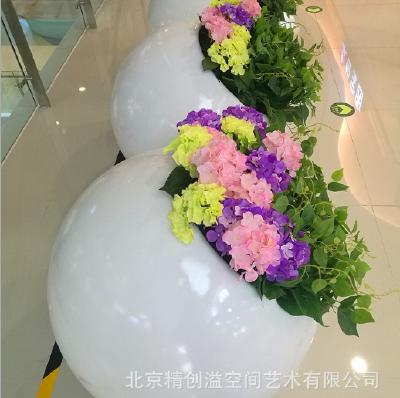 Glass steel pot flower
