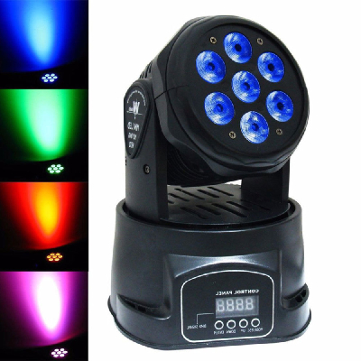 7pcs RGBWA Wireless battery powered led stage par light 10w par flat stage led light for DJ slim wash effect lighting