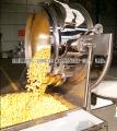 Gas heated popcorn machine