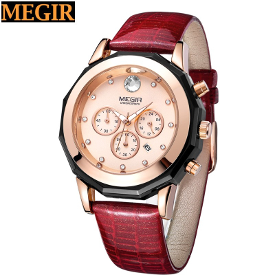 Wholesale relogios masculino 2017 Crocodile leather strap watch for lady