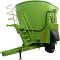 Vertical stationary feed mixer
