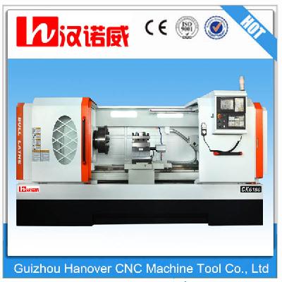 China cnc turning machine with 4 station tool holder-CK6163