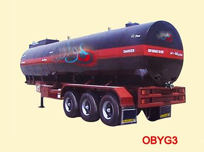 oil heating asphalt transport semi-trailer