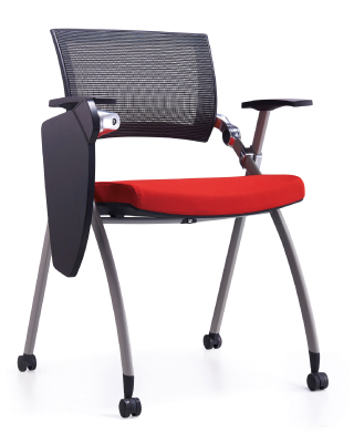 Full folding four legs arm office chair with writing board