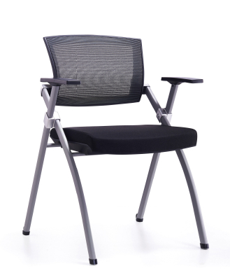 Full folding four legs arm office mesh chair